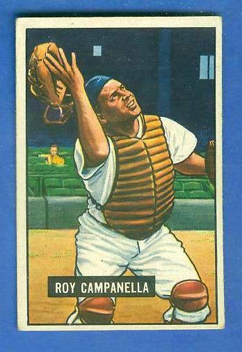 1951 Bowman #.31 Roy Campanella (Brooklyn Dodgers) Baseball cards value