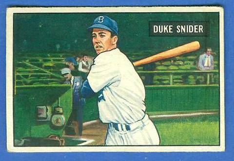 1951 Bowman #.32 Duke Snider (Brooklyn Dodgers) Baseball cards value