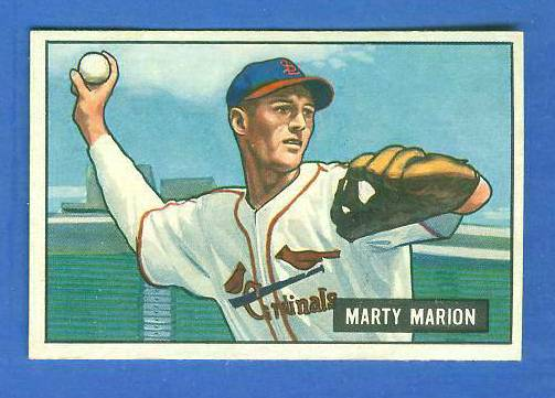 1951 Bowman #.34 Marty Marion (Cardinals) Baseball cards value