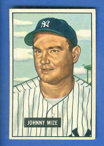 1951 Bowman #.50 Johnny Mize (Yankees) Baseball cards value