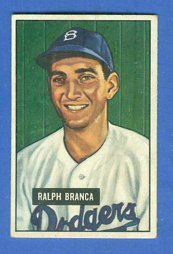 1951 Bowman #.56 Ralph Branca (Brooklyn Dodgers) Baseball cards value