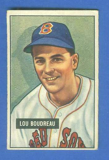 1951 Bowman #.62 Lou Boudreau (Red Sox) Baseball cards value