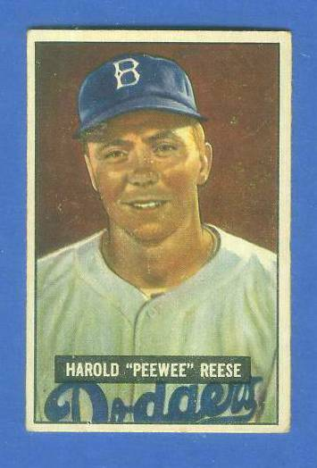 1951 Bowman #.80 Pee Wee Reese  (Brooklyn Dodgers) Baseball cards value