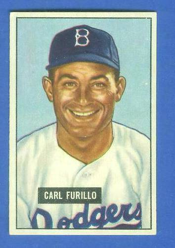 1951 Bowman #.81 Carl Furillo (Brooklyn Dodgers) Baseball cards value
