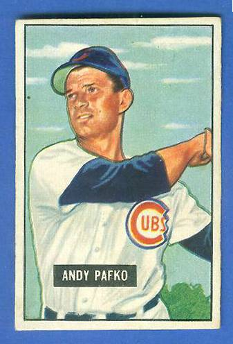 1951 Bowman #103 Andy Pafko (Cubs) Baseball cards value