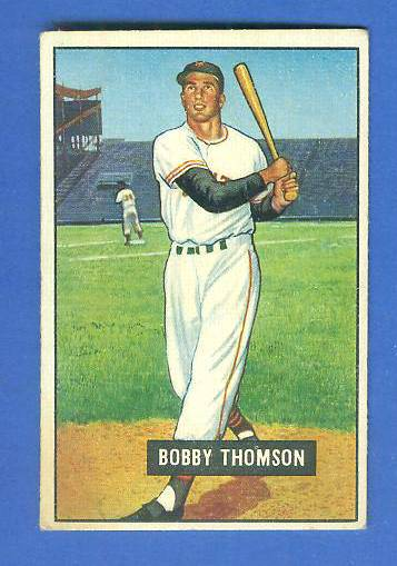 1951 Bowman #126 Bobby Thomson (New York Giants) Baseball cards value
