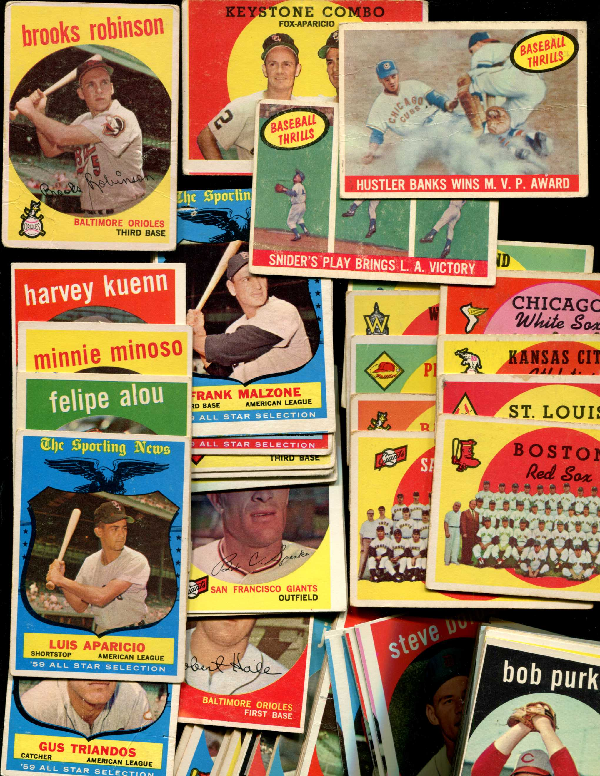 1959 Topps - Lot of (94) Different with HALL-of-FAMERS *** LOW GRADE *** Baseball cards value