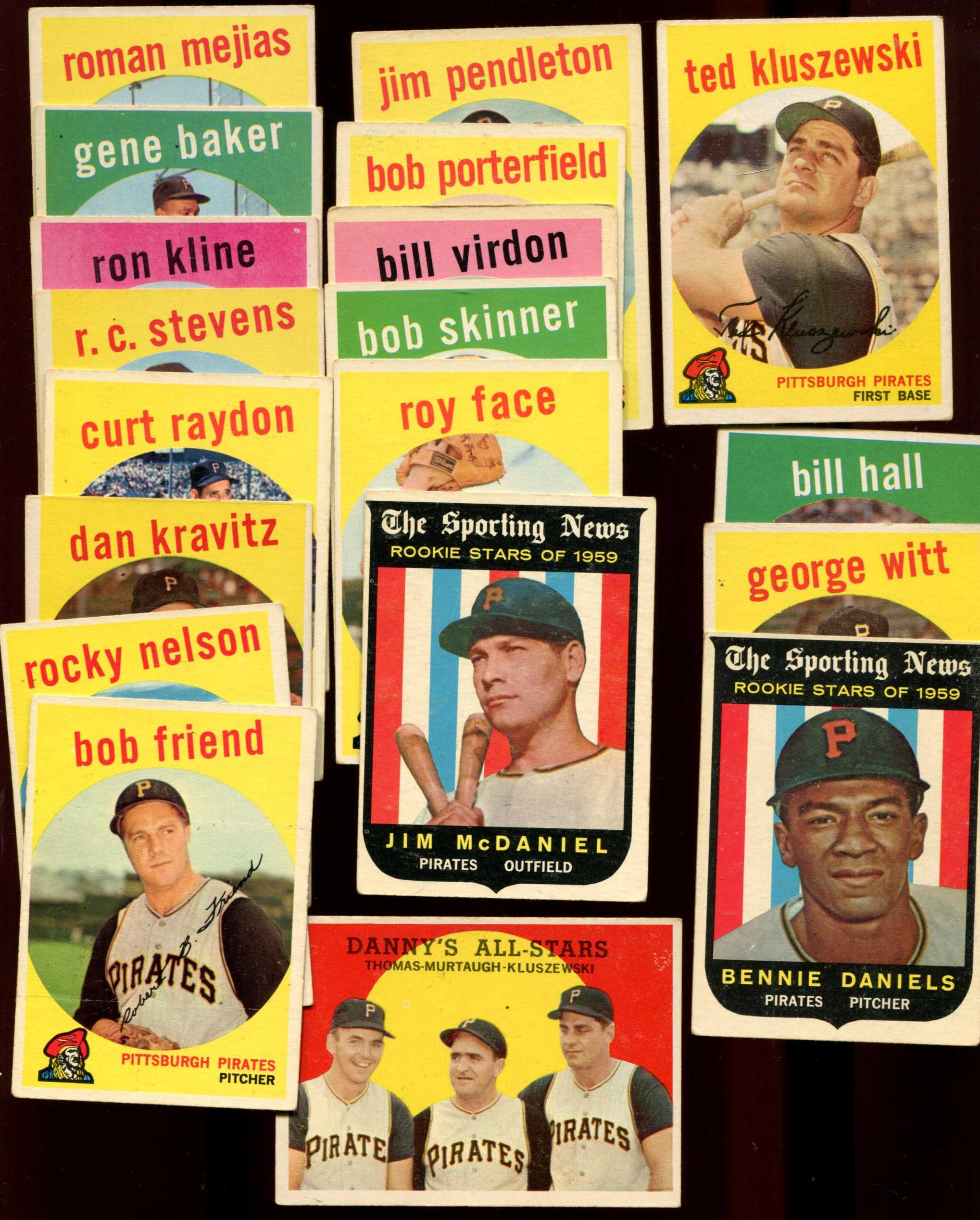 1959 Topps  - PIRATES Team Set/Lot (19) diff. Baseball cards value