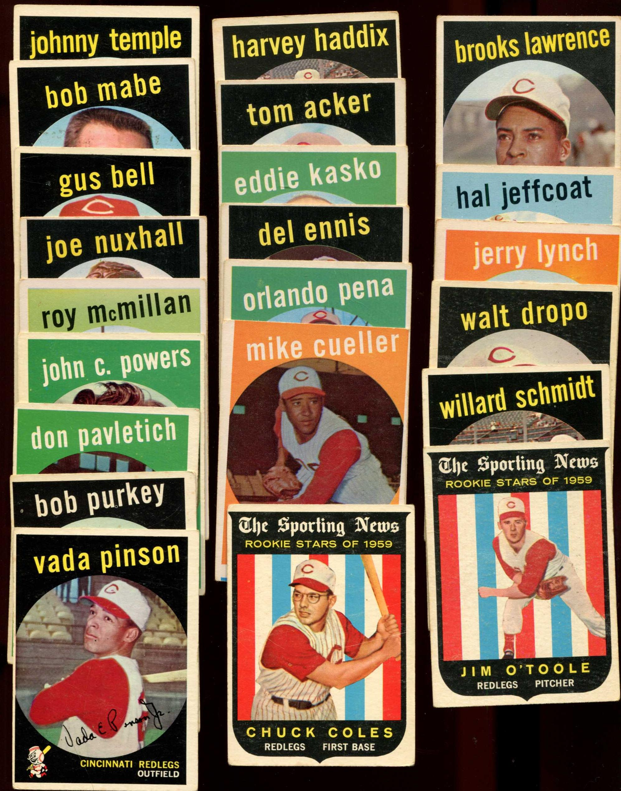 1959 Topps  - REDS Team Set/Lot of (22) diff. Baseball cards value