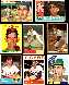 1955-1966 Topps - Don Mossi COLLECTION Lot of (9) different w/ROOKIE card !