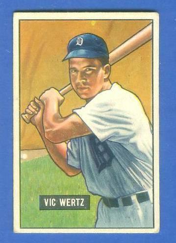 1951 Bowman #176 Vic Wertz (Tigers) Baseball cards value