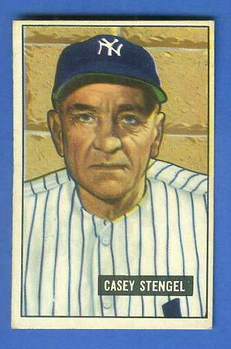1951 Bowman #181 Casey Stengel (Yankees) Baseball cards value