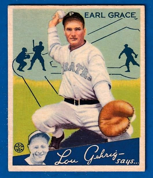 1934 Goudey # 58 Earl Grace ROOKIE (Pirates) Baseball cards value