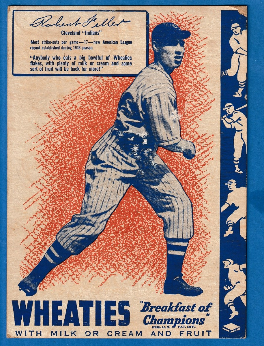 1937 Wheaties Bob Feller Indians