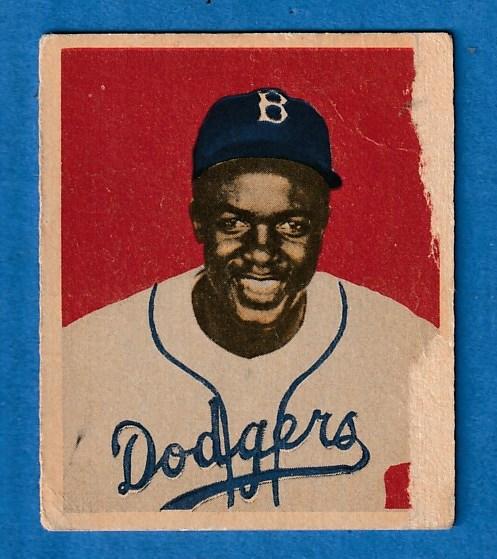 1949 Bowman 50 Jackie Robinson Rookie Brooklyn Dodgers