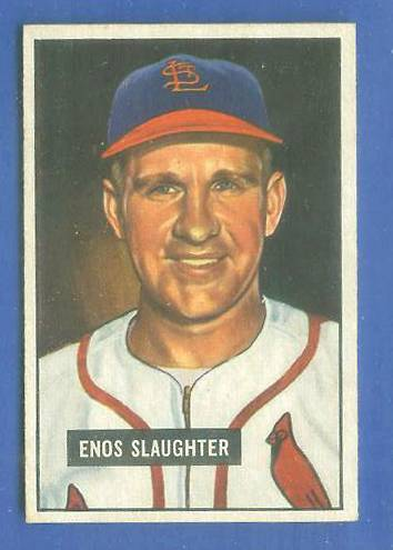 1951 Bowman #.58 Enos Slaughter (Cardinals) Baseball cards value
