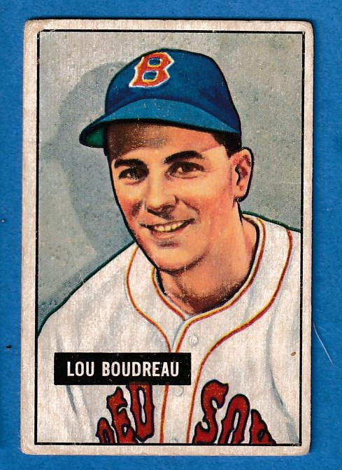 1951 Bowman # 62 Lou Boudreau (Red Sox, Hall-of-Famer) Baseball cards value