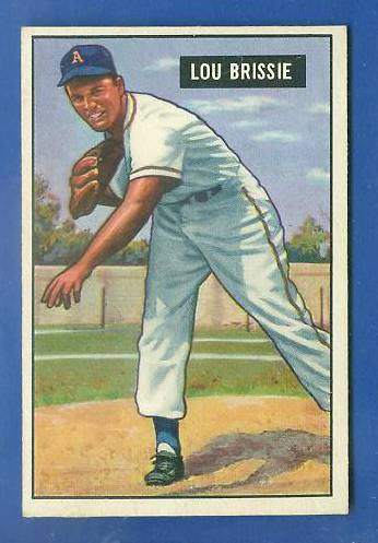1951 Bowman #155 Lou Brissie [#x] (Philadelphia A's) Baseball cards value