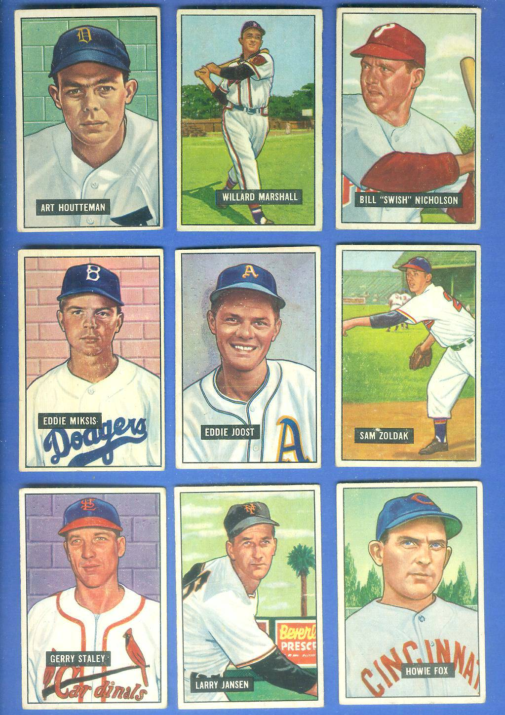 1951 Bowman #162 Larry Jansen [#x] (New York Giants) Baseball cards value