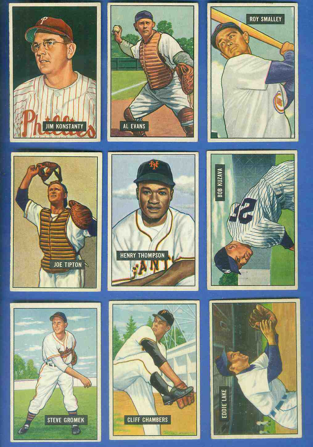 1951 Bowman #140 Eddie Lake [#x] (Tigers) Baseball cards value
