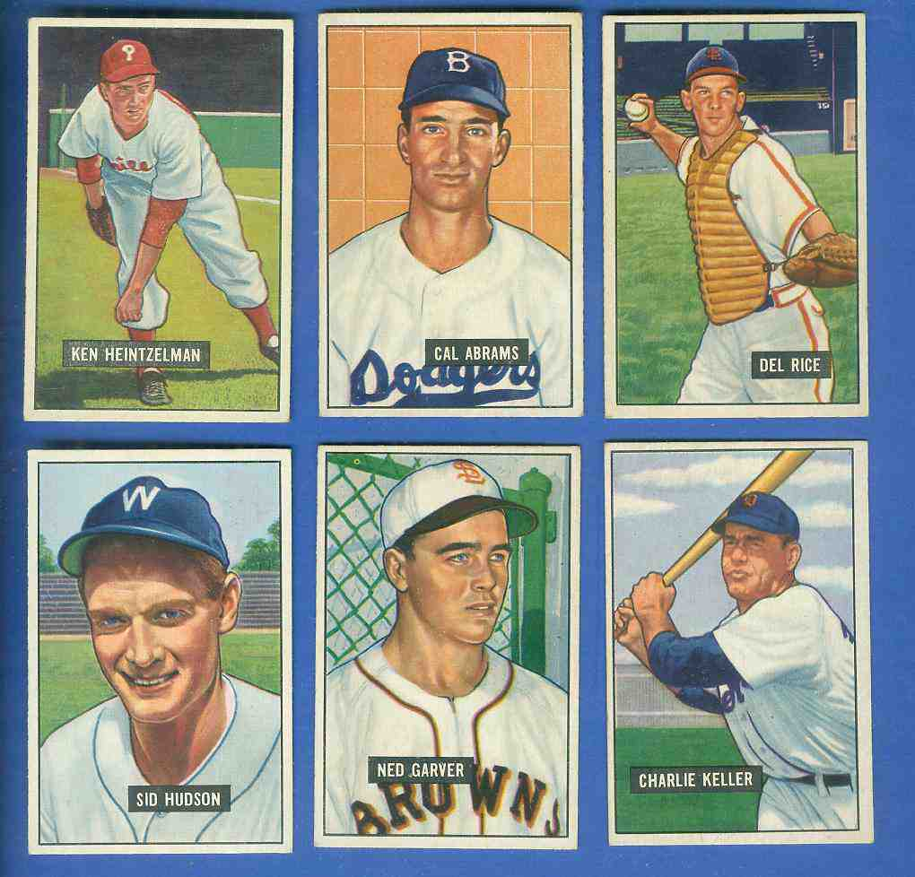 1951 Bowman #152 Cal Abrams (Brooklyn Dodgers) Baseball cards value