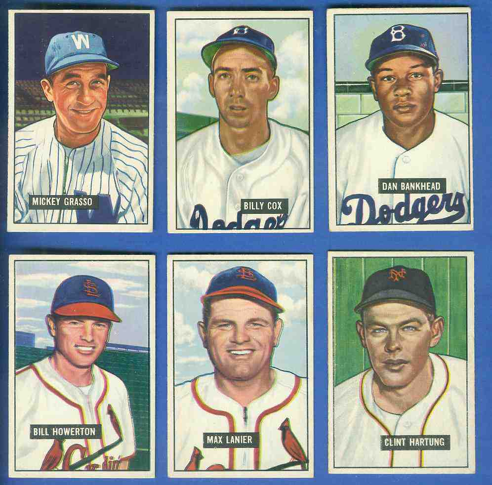 1951 Bowman Baseball Cards Set Checklist Prices Values Information