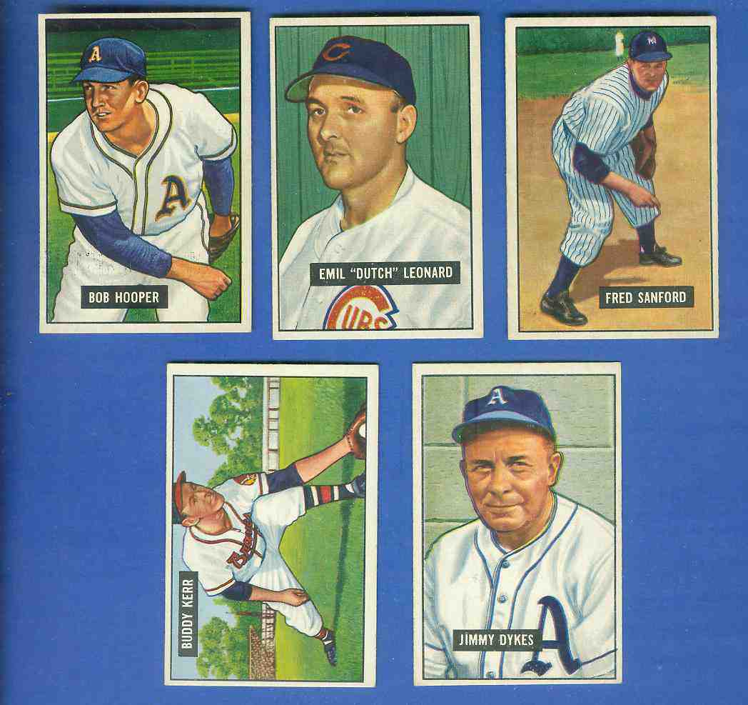 1951 Bowman #226 Jimmie Dykes (Philadelphia A's) Baseball cards value
