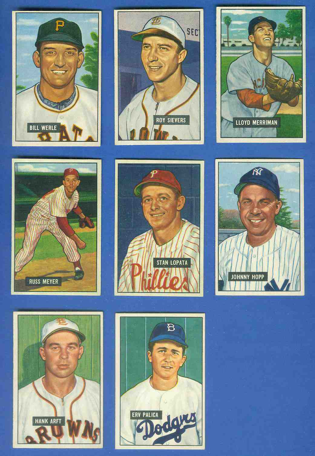 1951 Bowman #.64 Bill Werle (Pirates) Baseball cards value