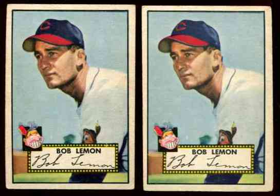 1952 Topps #268 Bob Lemon [#b] (Indians) Baseball cards value