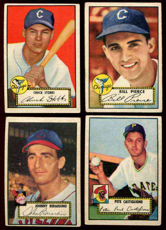 1952 Topps #260 Pete Castiglione [#x] (Pirates) Baseball cards value