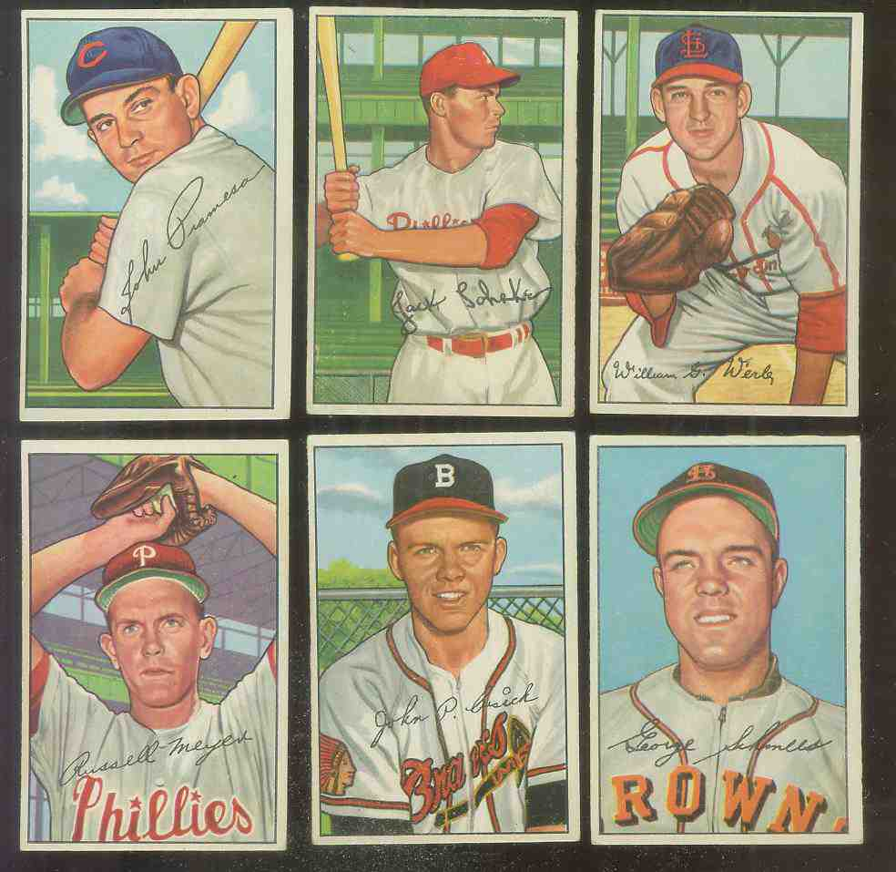 1952 Bowman #248 Bill Werle (Cardinals) Baseball cards value