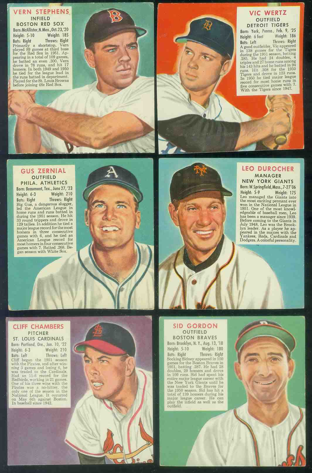 1952 Red Man #NL.1 Leo Durocher MGR (Giants) Baseball cards value