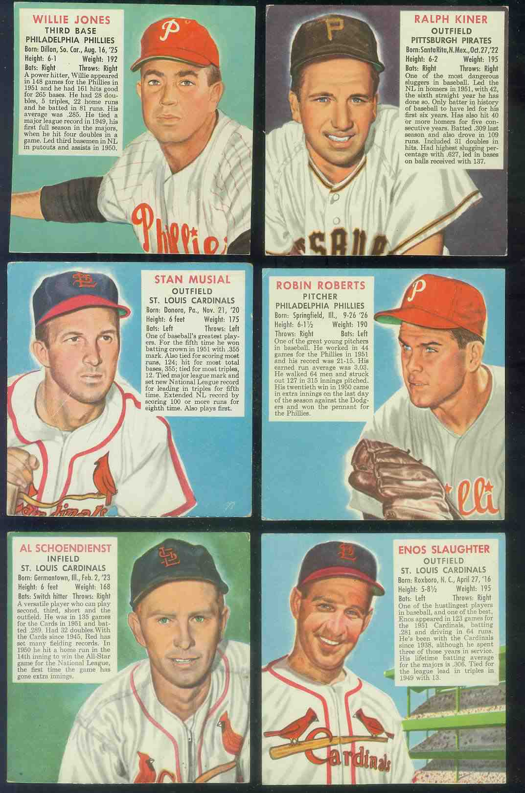 1952 Red Man #NL16 Stan Musial [#a] (Cardinals) Baseball cards value