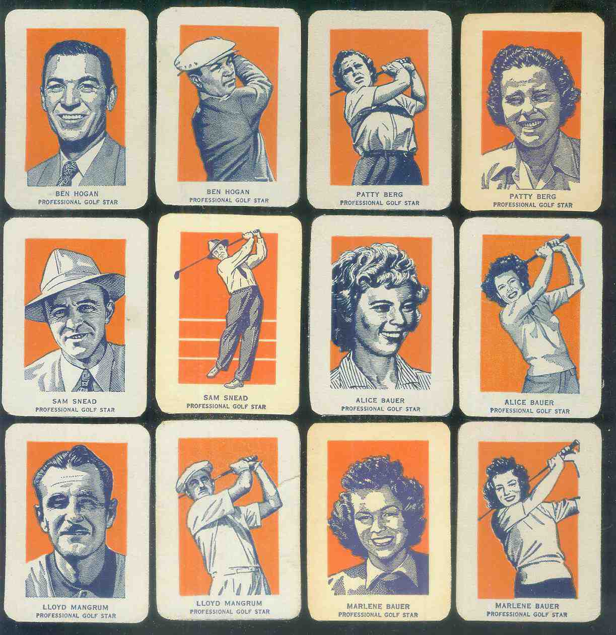 1952 Wheaties #14A Ben Hogan PORTRAIT (Golf) Golf cards value