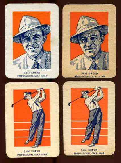1952 Wheaties #27A Sam Snead PORTRAIT [#bsc] (Golf) Golf cards value