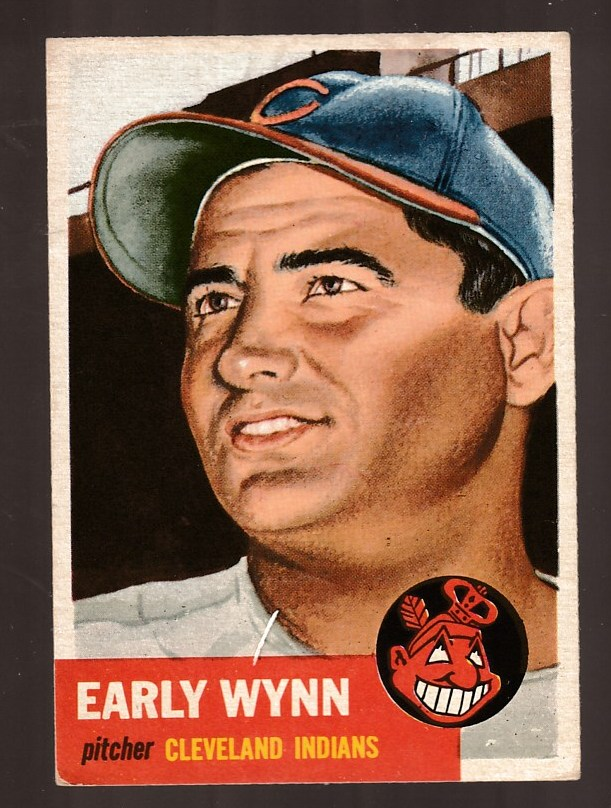 1953 Topps # 61 Early Wynn SHORT PRINT (Indians) Baseball cards value