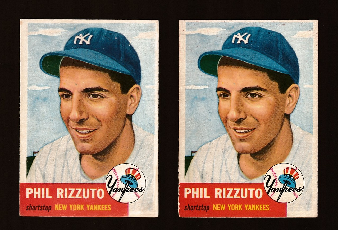 1953 Topps #114 Phil Rizzuto [#a] (Yankees) Baseball cards value