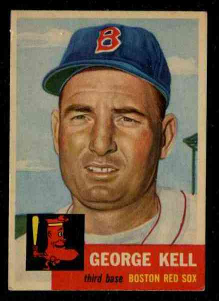 1953 Topps #138 George Kell (Red Sox) Baseball cards value