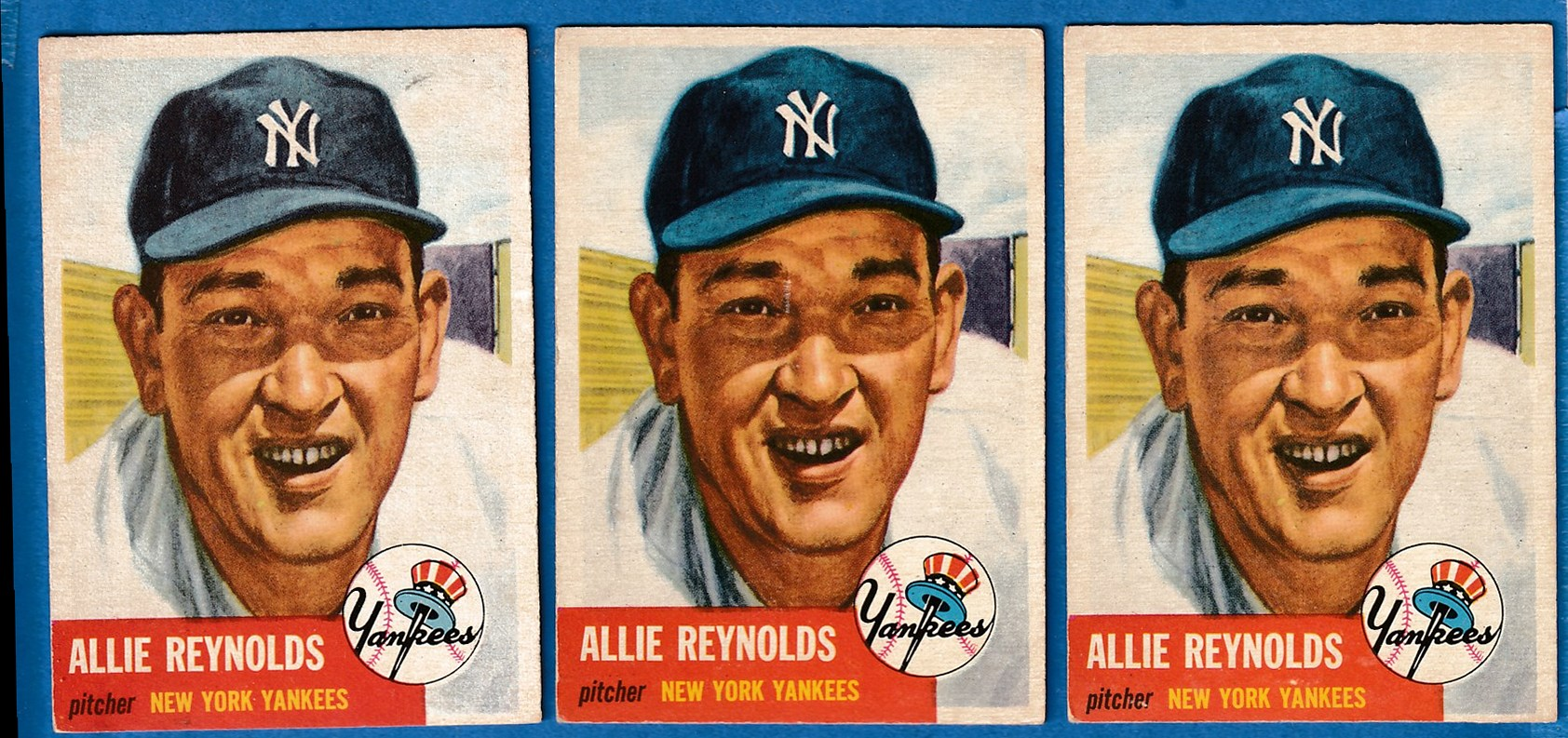 1953 Topps #141 Allie Reynolds (Yankees) Baseball cards value