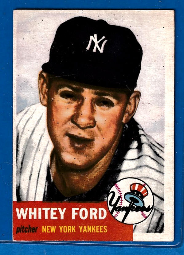 1953 Topps #207 Whitey Ford [#a] (Yankees) Baseball cards value