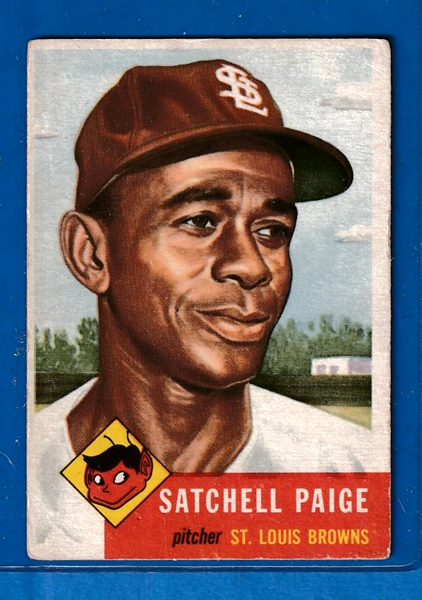 1953 Topps #220 Satchel Paige [#at] (St. Louis Browns) Baseball cards value