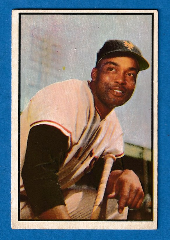 1953 Bowman Color # 51 Monte Irvin (New York Giants) Baseball cards value