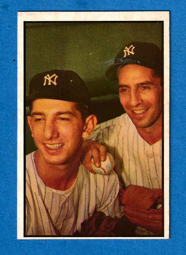 1953 Bowman Color # 93 Phil Rizzuto/Billy Martin [#a] (Yankees) Baseball cards value