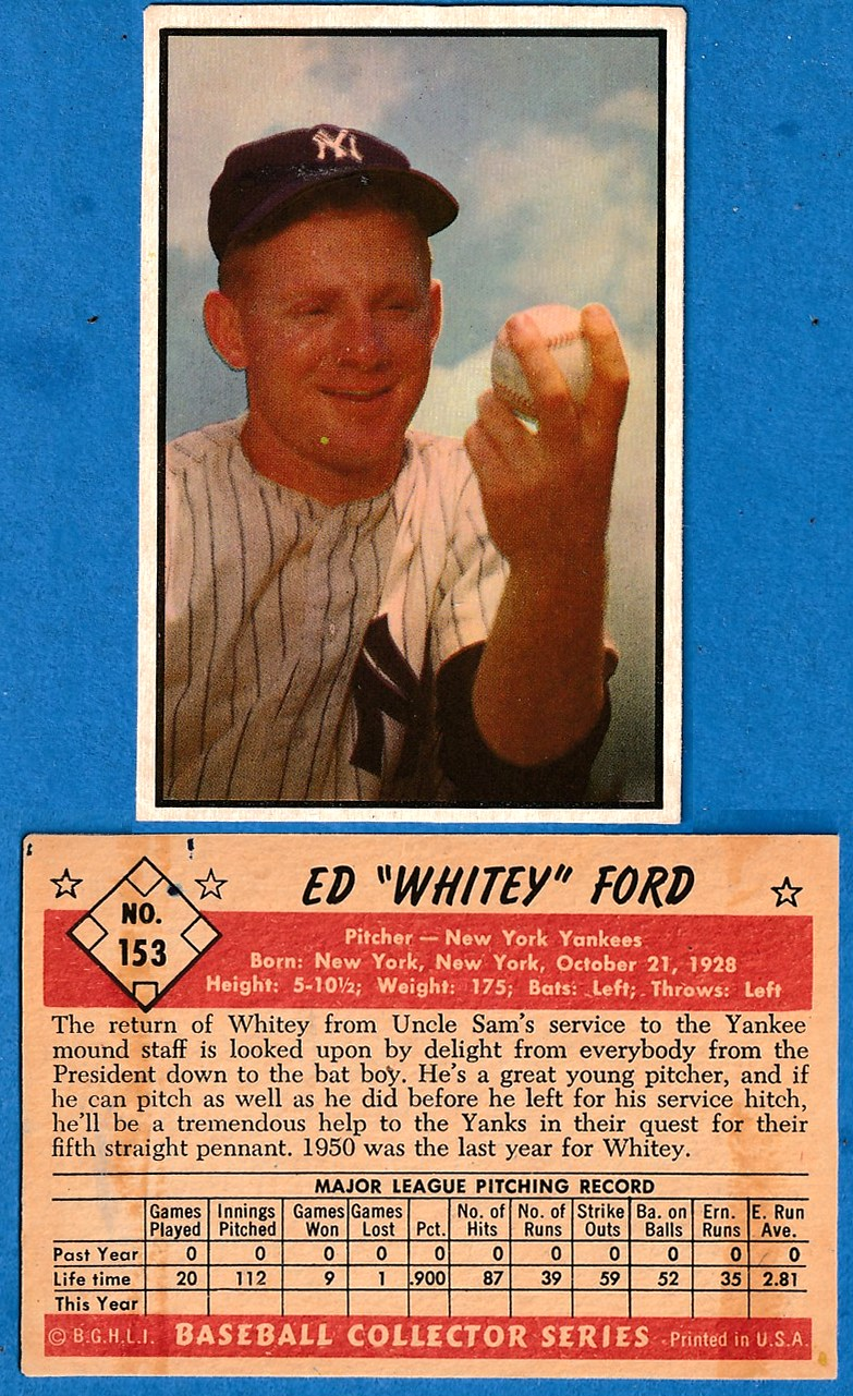 1953 Bowman Color #153 Whitey Ford (Yankees) Baseball cards value