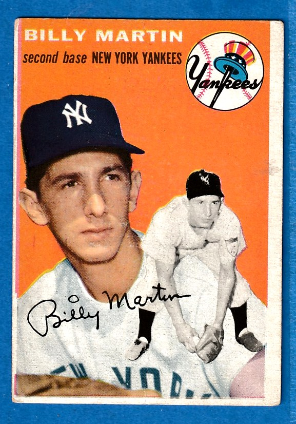 1954 Topps 13 Billy Martin A Yankees