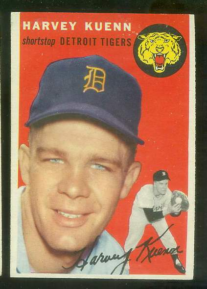1954 Topps #.25 Harvey Kuenn ROOKIE [#z1] (Tigers) Baseball cards value
