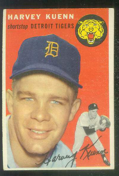 1954 Topps #.25 Harvey Kuenn ROOKIE [#z2] (Tigers) Baseball cards value
