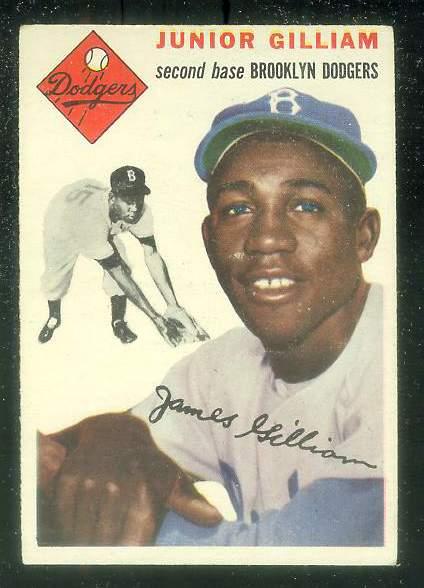 1954 Topps #.35 Junior Gilliam [#dsc] (Brooklyn Dodgers) Baseball cards value