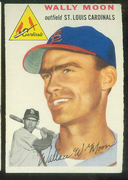 1954 Topps #137 Wally Moon ROOKIE [#a] (Cardinals) Baseball cards value