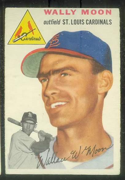 1954 Topps #137 Wally Moon ROOKIE [#c] (Cardinals) Baseball cards value